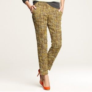 J. Crew Cafe Capri Pants in Harvest Tweed